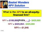 basket wonders npv solution
