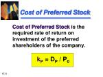 cost of preferred stock
