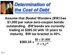 determination of the cost of debt