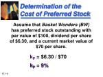determination of the cost of preferred stock