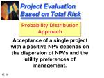 project evaluation based on total risk38