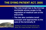 the dying patient act 2005