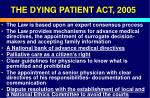 the dying patient act 200551