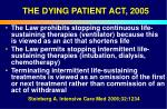 the dying patient act 200552