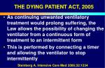 the dying patient act 200554