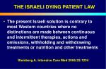 the israeli dying patient law