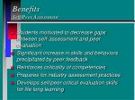 benefits self peer assessment