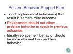 positive behavior support plan