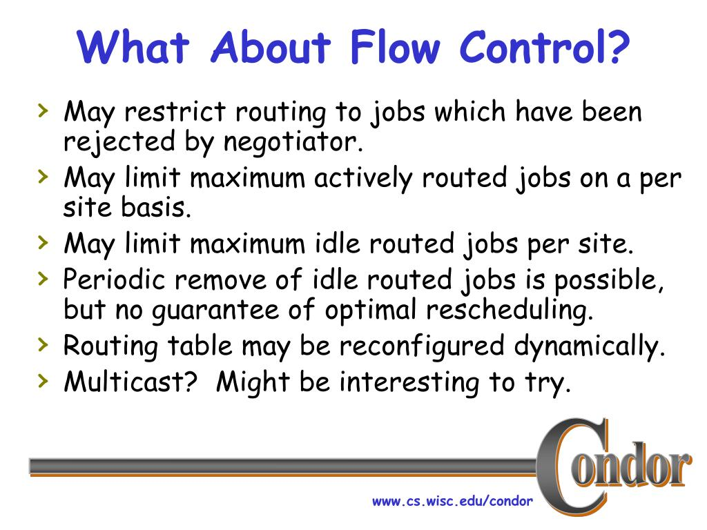 What About Flow Control?
