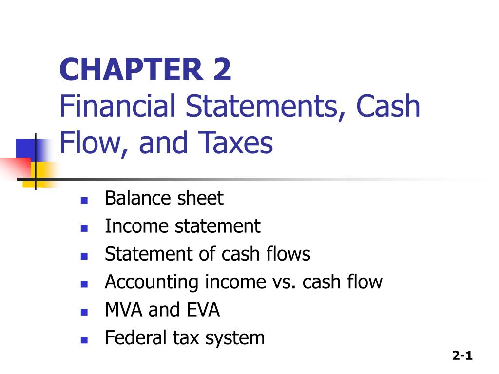 chapter 2 financial statements cash flow and taxes l.