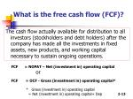 what is the free cash flow fcf