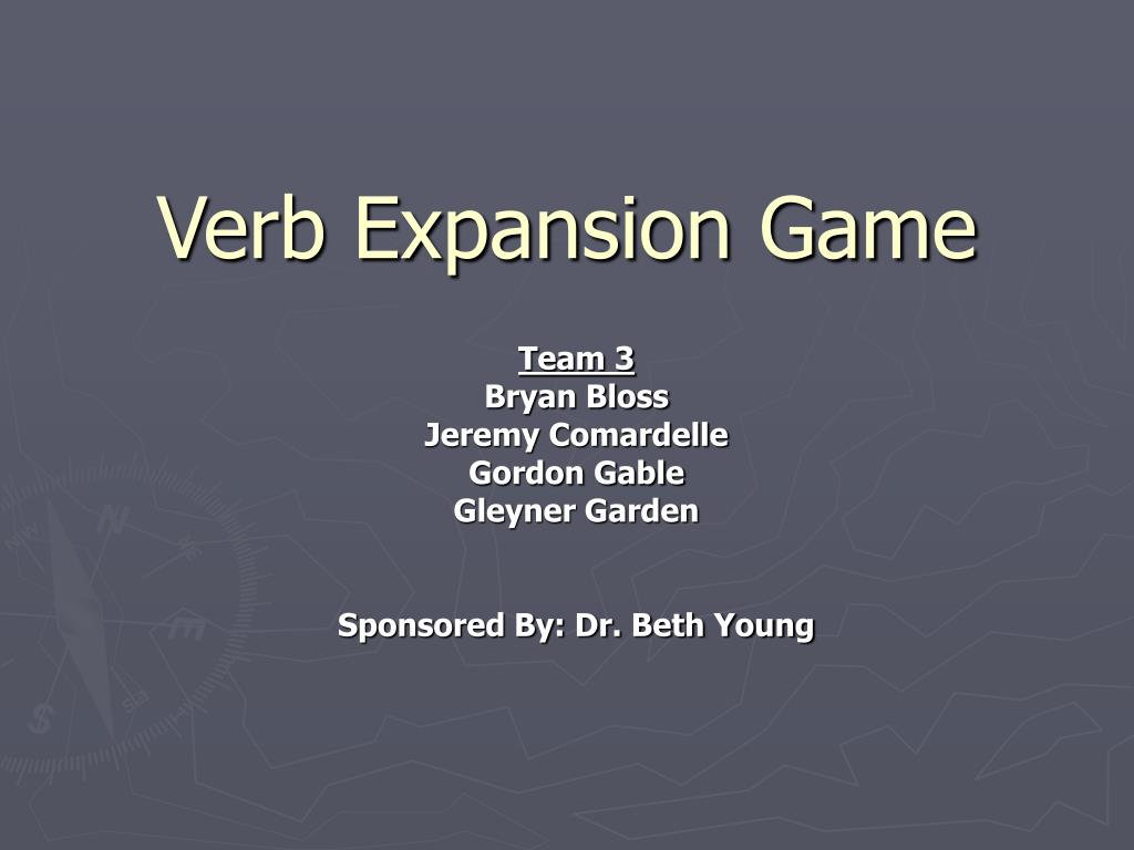 verb expansion game l.