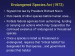 endangered species act 1973