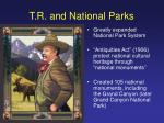 t r and national parks