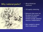 why national parks