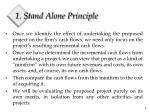 1 stand alone principle