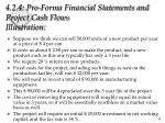 4 2 4 pro forma financial statements and project cash flows illustration