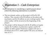 illustration 1 cash enterprises