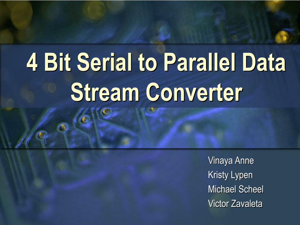 4 bit serial to parallel data stream converter l.