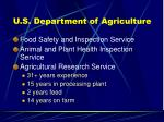 u s department of agriculture