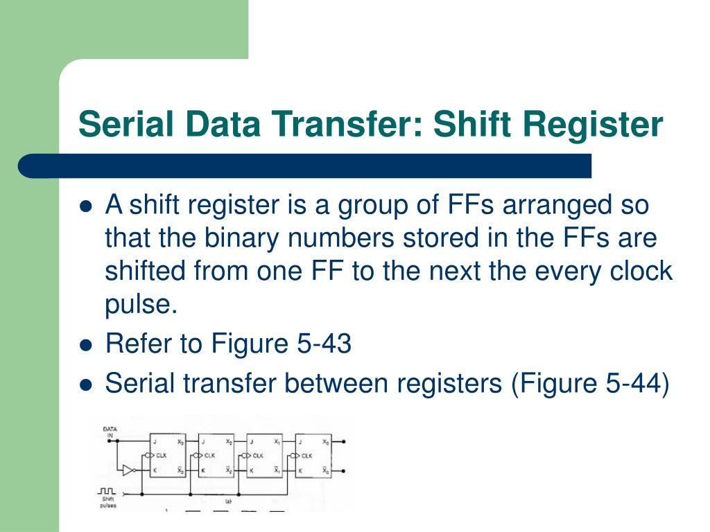 Serial Data Transfer: Shift Register