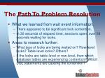 the path to problem resolution44
