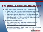 the path to problem resolution53