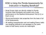 how is using the florida assessments for instruction in reading beneficial21