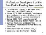professional development on the new florida reading assessments