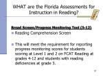 what are the florida assessments for instruction in reading57