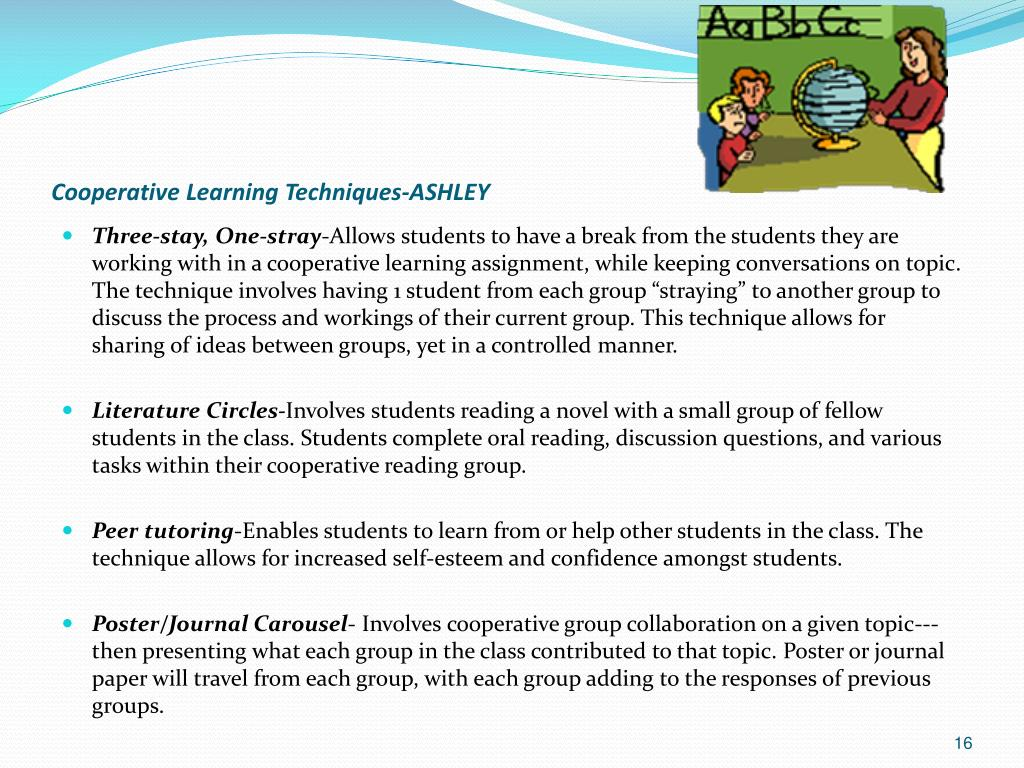 a paper on benefits of cooperative learning White papers emerging leaders just about everyone loves the idea of cooperative learning teachers can get the greatest benefit possible from cooperative.