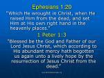ephesians 1 20