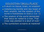 golgotha skull place