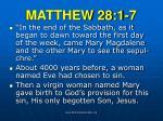matthew 28 1 7