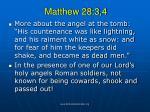 matthew 28 3 4