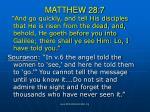 matthew 28 7