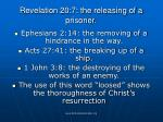 revelation 20 7 the releasing of a prisoner