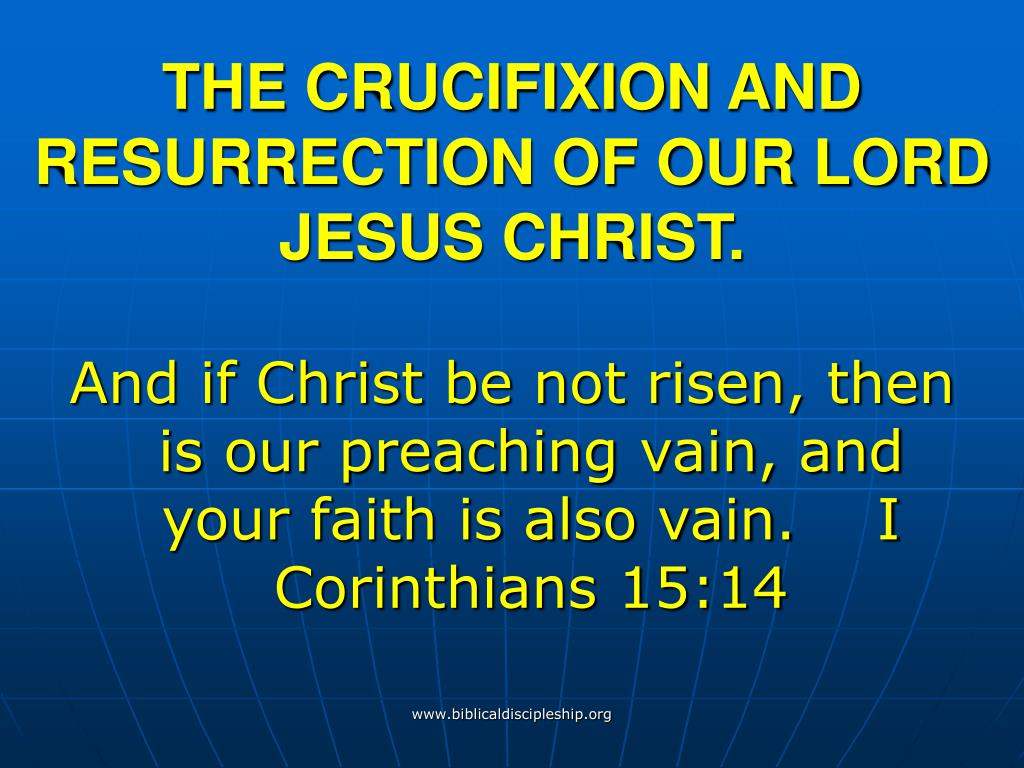 the crucifixion and resurrection of our lord jesus christ l.