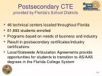 postsecondary cte provided by florida s school districts