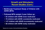 growth and stimulants recent studies cont11