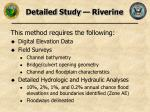 detailed study riverine