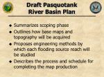 draft pasquotank river basin plan
