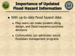 importance of updated flood hazard information