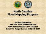 north carolina flood mapping program