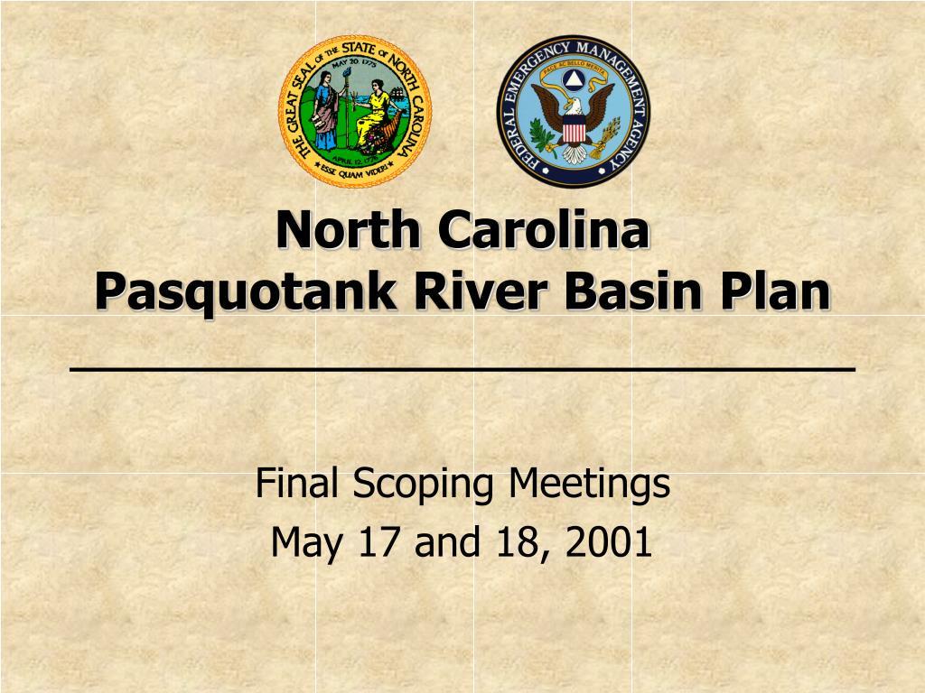 north carolina pasquotank river basin plan l.