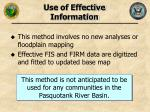 use of effective information