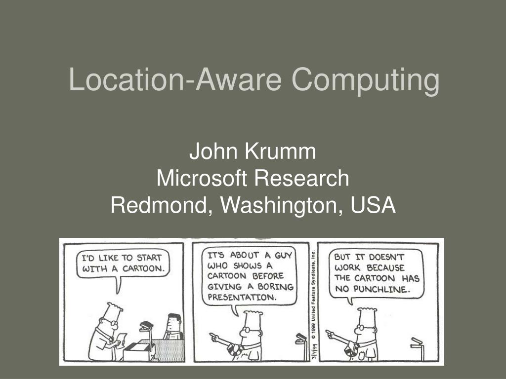location aware computing l.
