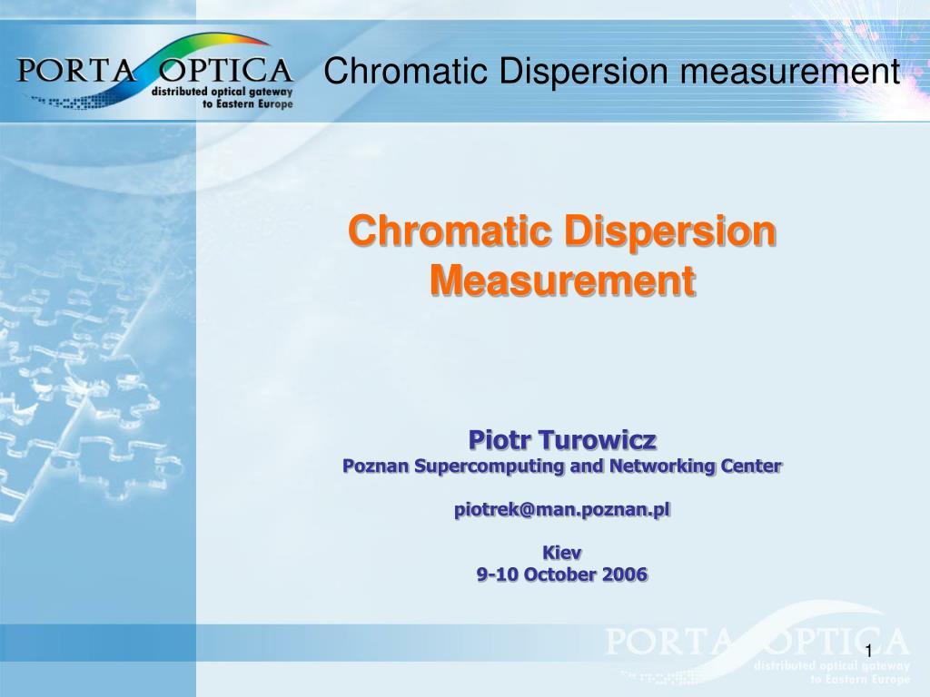 chromatic dispersion measurement l.