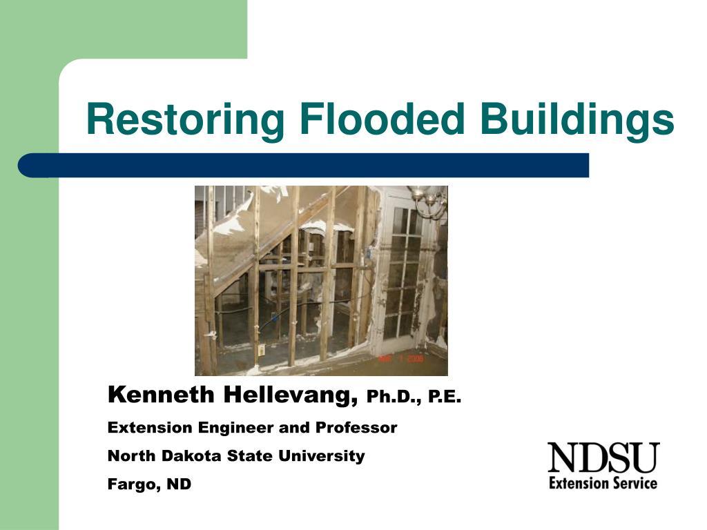 restoring flooded buildings l.