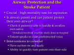 airway protection and the stroke patient